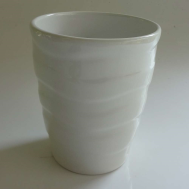 Vaso de Porcelana Grafiatto - Branco
